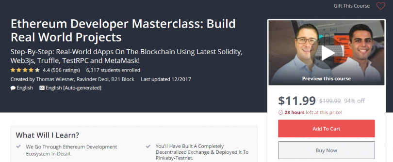 Ethereum Developer Masterclass Build Real World Projects