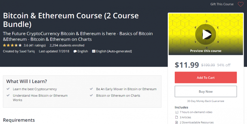 Bitcoin & Ethereum Course (2 Course Bundle)