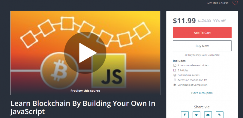 [Download] Learn Blockchain By Building Your Own In JavaScript