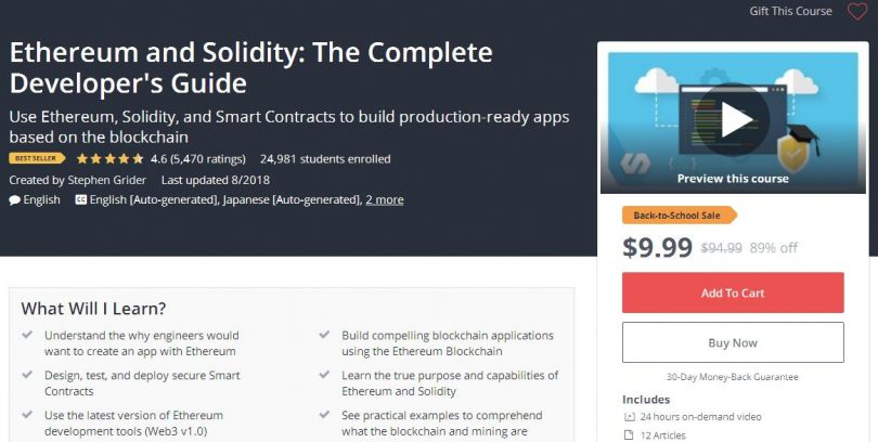 Ethereum and Solidity The Complete Developer's Guide