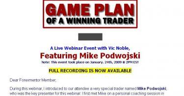 Gameplan Of A Winning Trader