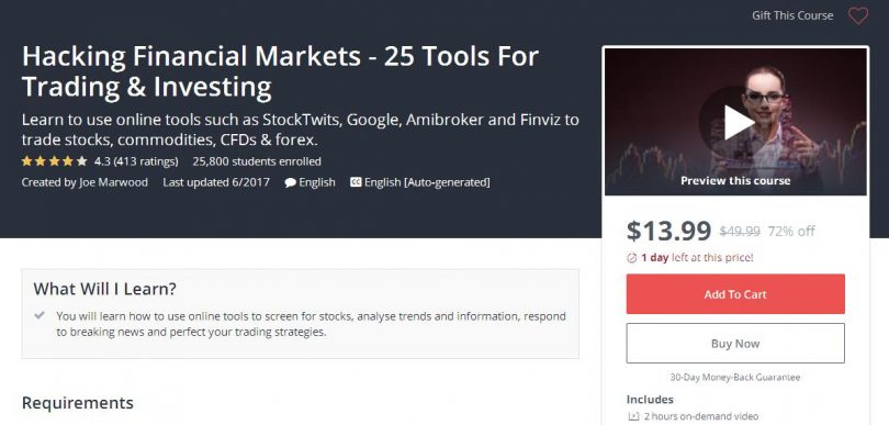 Download] Hacking Financial Markets - 25 Tools For Trading