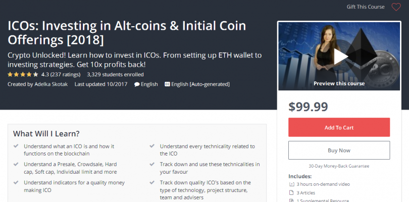 ICOs Investing in Alt-coins & Initial Coin Offerings [2018]