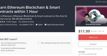 Learn Ethereum Blockchain & Smart Contracts within 1 Hour