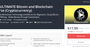 The ULTIMATE Bitcoin and Blockchain Course (Cryptocurrency)